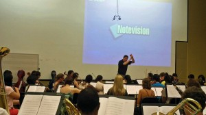Tim Jansa rehearsing with the Georgia State University Symphony Orchestra (August 2011)