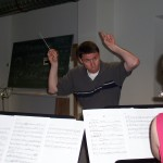 "Tim Jansa rehearsing his ""Septet for Winds and Percussion"" in Germany (2009)"